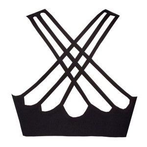 Rhapso Designs Scallop Back Strappy Womens Crop Top