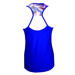 Rhapso Designs TK31 Print Womens Training Tank Top - Electric Blue/Print