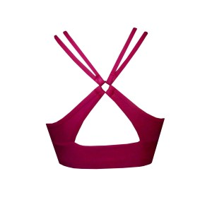 Rhapso Designs Burgundy Womens Sports Crop Top