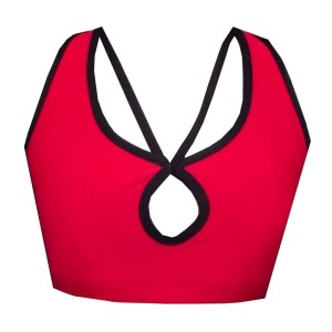 Rhapso Designs Strappy Vamp Womens Crop Top