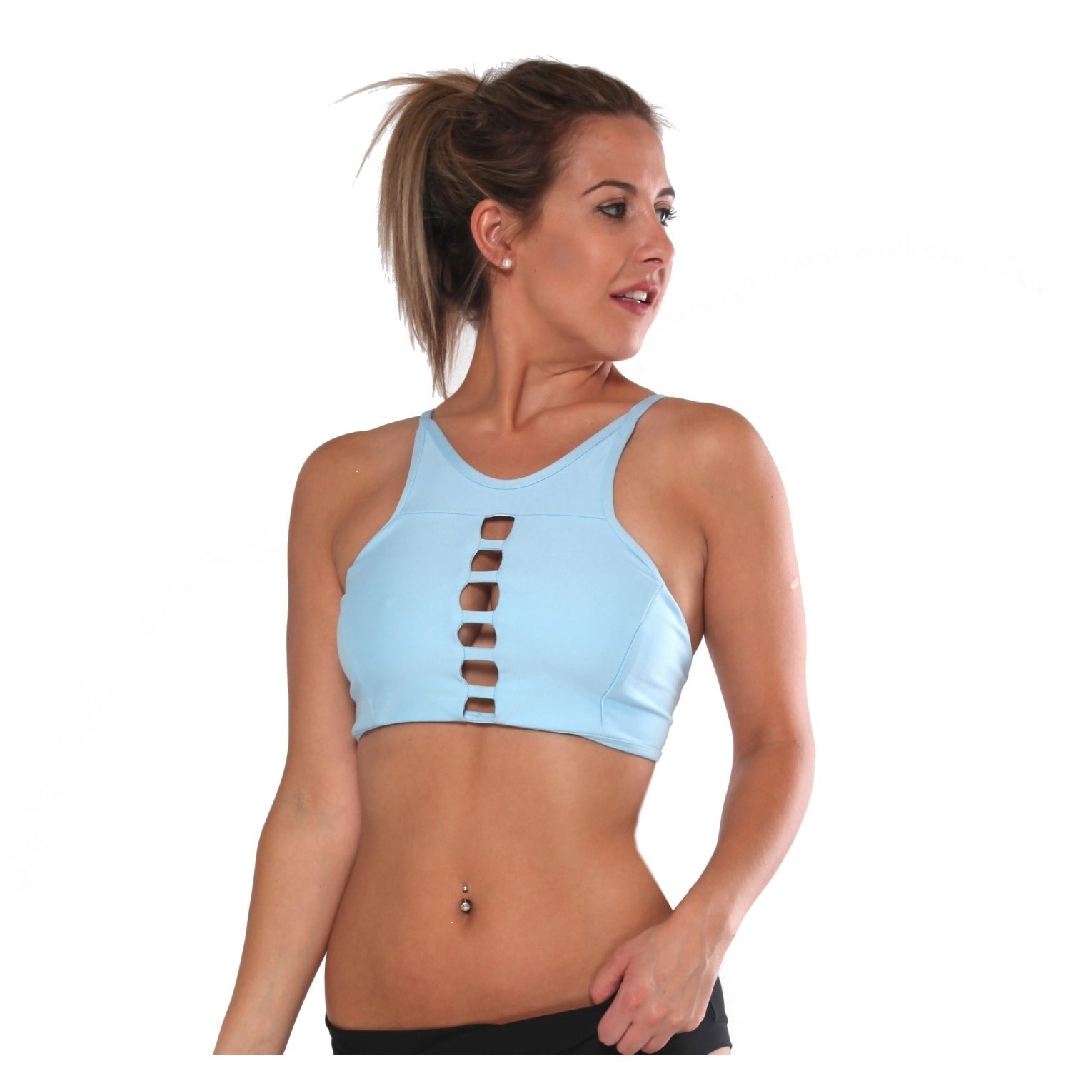 adbf89631ed55 Rhapso Designs 22BB Strappy Tank Crop Top - Light Blue