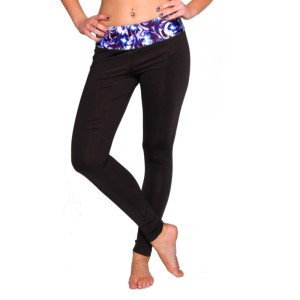 Rhapso Designs Womens Leggings with Print Waistband