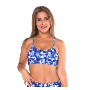 Rhapso Designs 1P187 Womens Crop Top - Blue/White