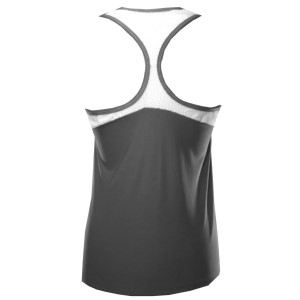 Rhapso Designs Contrast Mesh Womens Training Tank Top - Grey/White