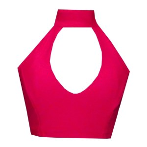 Rhapso Designs High Neck Halter Womens Sports Crop Top